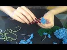 Hortensie aus Glasperlen. Teil 1/2. Beaded flowers. Beads - YouTube