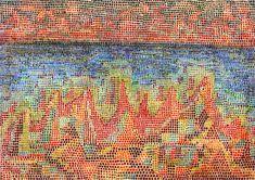 Paul Klee, Cliffs by the Sea on ArtStack #paul-klee #art