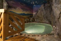 La romantica piscina idromassaggio nella grotta!!!