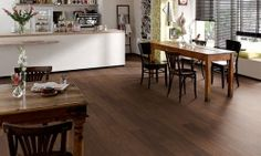 EGGER always manufactures the right products for the job - from high quality laminates for furniture to eco-friendly construction materials. Egger Laminat, Laminate Flooring, Hardwood Floors, Color Nogal, Entryway Tables, Dining Table, Classic, Room, Furniture