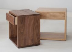 The new cube side tables from Natural Bed Company. http://www.naturalbedcompany.co.uk/shop/bedside-drawers/cube-bedside-drawer-table/