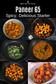 Paneer 65 - better than you've ever had before! This Hyderabadi paneer starter recipe is deliciou Veg Recipes, Curry Recipes, Vegetarian Recipes, Cooking Recipes, Healthy Recipes, Veg Starter Recipes, Indian Paneer Recipes, Indian Food Recipes, Paneer Starters