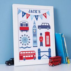 Pin for Later: 25 of Our Favorite British Baby Finds For Princes and Princesses  Sweet Home London's personalized London prints ($58) make a fun and modern addition to a little one's nursery.
