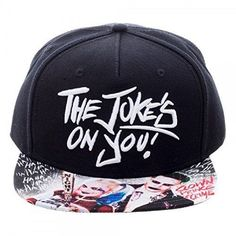 Suicide Squad Joker And Harley Quinn Jokes On You Sublimated Bill Snapback Hat #DCComics #BaseballCap