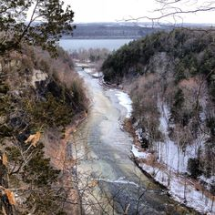 View of Cayuga Lake from Taughannock Falls State Park in Trumansburg New York.