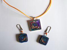Conjunto Espiral en Azul de Entodomemeto por DaWanda.com