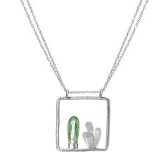 Look what I found at UncommonGoods: Cactus Frame Necklace for $49.99 #uncommongoods
