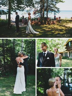 Whimsical woodsy first look. -Angela Renee Photography. See more first looks at http://angelareneephoto.com/