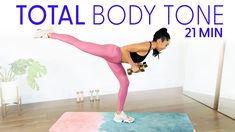 21 Minute All in One Tone Workout - get your total body lean & sculpted 20 Min Workout, Gym Workout Tips, Workout Videos, Workout Diary, Workout Challenge, Pop Workouts, Interval Training Workouts, High Intensity Interval Training, Flexibility Routine