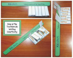 Classroom Freebies: Toothbrush Dental Hygiene Writing Prompt Craft
