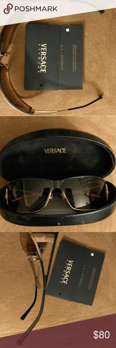 f68aded3d92 Shop Women s Versace Black Gold size OS Glasses at a discounted price at  Poshmark.