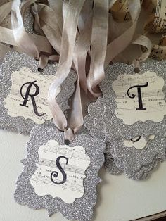 DIY:: Vintage Sparkle Ornaments. You could also make these as wedding table numbers