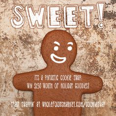 Get pinning and win shopping from Whole Foods Market. Join the Virtual Cookie Swap to share tasty recipes and have a chance to win a 150 dollar gift card!