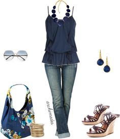 Dress Up A Plain Tank Top, created by archimedes16 on Polyvore