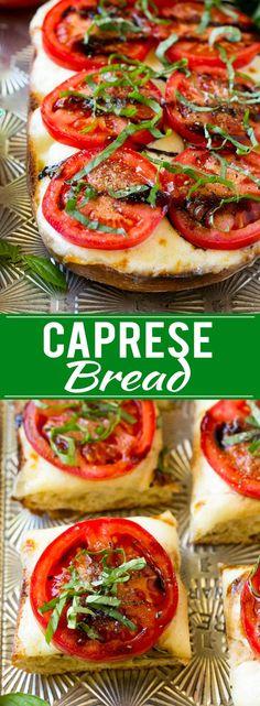 Caprese Bread Recipe   Tomato Bread   Cheese Bread