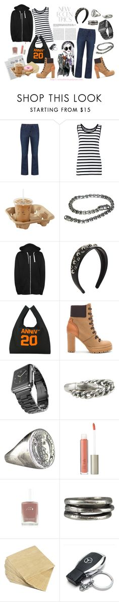 """""""Sunday Morning Hang Out"""" by virtudiaries ❤ liked on Polyvore featuring Levi's, Lands' End, David Yurman, WearAll, RED Valentino, MM6 Maison Margiela, See by Chloé, Apple, Goti and Ilia"""