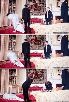 Funny Sherlock bloopers. Poor Benedict, haha