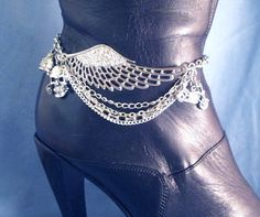 Angel Wing BOOT Chains Boot Jewelry Boot Bracelet by DebsTreasures