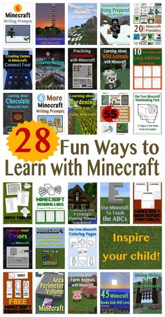 Learning with Minecraft - 28 Ideas to make learning fun!