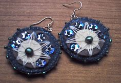 Handmade felt earrings