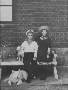 Grand Duke Mikhail and Grand Duchess Olga children of Tsar Alexander III