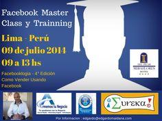 Facebook Master Class y Trainning en Lima Peru