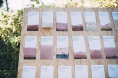 diy escort cards or seating chart or whatever you call it. Great for wedding or reception !