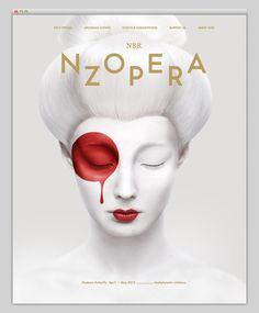 "Superb poster for New Zealand Opera's production of ""Madame Butterfly."" Designer unknown. via From Up North. Source: New Zealand Opera"