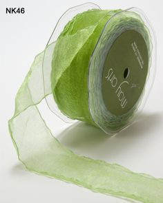 1.5 Inch by 30 Yards SHEER/WRINKLED EDGE - May Art Ribbons