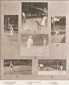 Tennis at the UO 1911-12.  From the 1913 Oregana (UO yearbook). www.CampusAttic.com