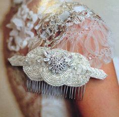 Vintage Bridal Comb   Rina Bridal Hair Comb