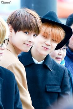 This is adorable.. Picture/Fansitesnap] BTS Suga,Jimin & V at K-Star Road Opening Ceremony [151221] | btsdiary