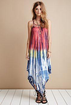 Raga Tie-Dye Ladder Cutout Maxi Dress | Forever 21 - 2000052471