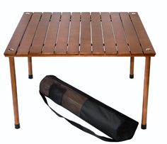 Buy Table in a Bag Original Low Wood Portable Table with Carrying Bag, Brown big discount! Only 10 days. Get your Table in a Bag Original Low Wood Portable Table with Carrying Bag, Brown now!