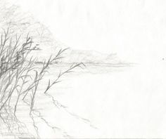 Brzeg Jeziora by kajtek21.deviantart.com on @DeviantArt Drawing Sketches, Drawings, Pencil, Snow, Landscape, Outdoor, Outdoors, Scenery, Sketches