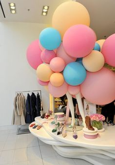 Super cute balloon display for SJP shoes in LA.