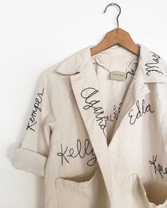 I spent the last few weeks embroidering this coat with the names of the women who have shaped my life, inspire me daily, and make me want to fight for what I believe in. I can't wait to wear this on Saturday at the #womensmarch in Atlanta and to share the experience with my entire family who also believes that there is so much to fight for right now. We'll also be closing the studio on Friday so the entire STATE team can make the trip and spend the weekend in Atlanta. Are you marching?…