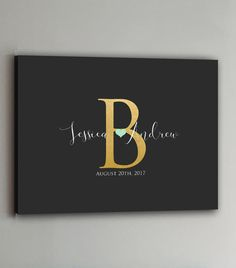 Wedding Guest Book  100-350 Guests  Gold by PrintCafeMonograms