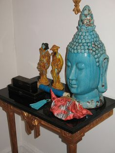 @Chinoiserie Chic--BUDDHAS ARE SO CHIC WHEN DECORATING...THEY ADD FLAIR AND PEACE TO A ROOM--GET THE LOOK FROM #IMAX