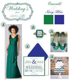 Emerald & Navy Blue Weddings at Loviesletter.com