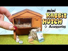 Miniature Rabbit Hutch & Accessories Tutorial // DIY Bunny Cage - YouTube