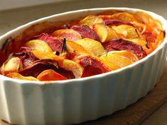 Gourmandises végétariennes: Rote Beete-Kürbis-Kartoffelgratin
