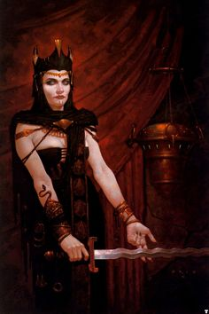 The Great Queen  Gerald Brom - The Ghoul PriestessDungeon Magazin, 1998oil on canvas,71x56 cm   I want all of her adornments. In a serious and ...