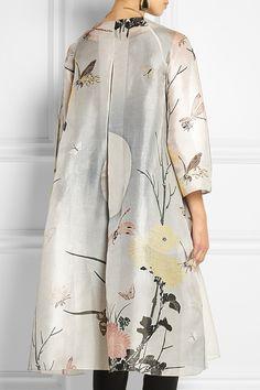 Biyan Aunne printed silk-organza dress