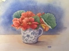 'Nasturtium mug' Watercolour 30x45 2016