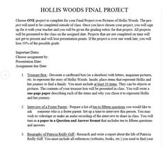 Pictures of Hollis Woods Project Choice Board | Choice boards ...