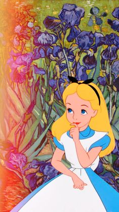 Some iPhone 5 Disney & Van Gogh wallpapers! Alice (source: annabjorgmans.tumblr.com)