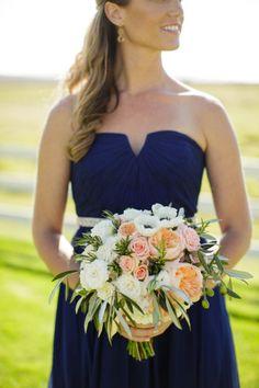 Beautiful bridesmaid bouquet: http://www.stylemepretty.com/california-weddings/carmel/2015/06/05/rustic-carmel-ranch-wedding/   Photography: Jihan Cerda - http://www.jihancerda.com/