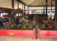 Gamelan Instruments at Yogyakarta Kraton, Yogyakarta, Java, Indonesia