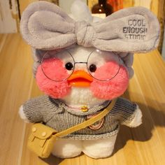 Cafe-Mimi Yellow Duck Plush Toy With Pink Cheek Stuffed Duck Toys Cute Ducklings, Duck Toy, Pink Cheeks, Baby Ducks, Plush Animals, Plush Dolls, Mochi, Plushies, Pet Toys